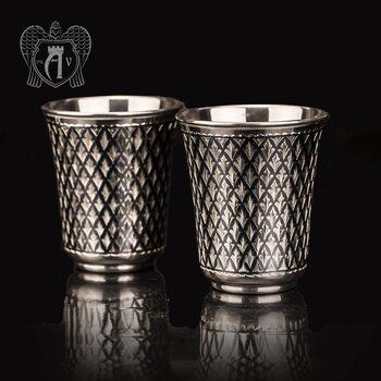 Серебряные стаканы «Елочка» 2 шт