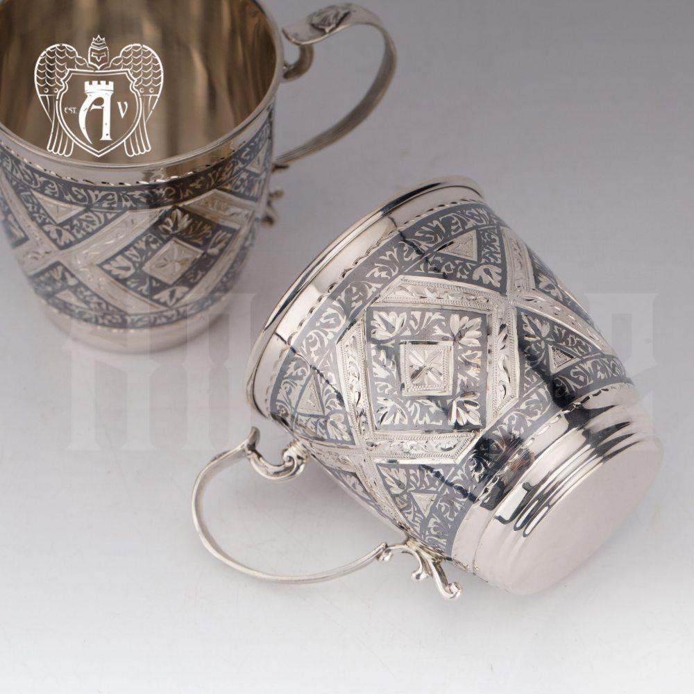 Кружки из серебра «Фалько» 2 шт