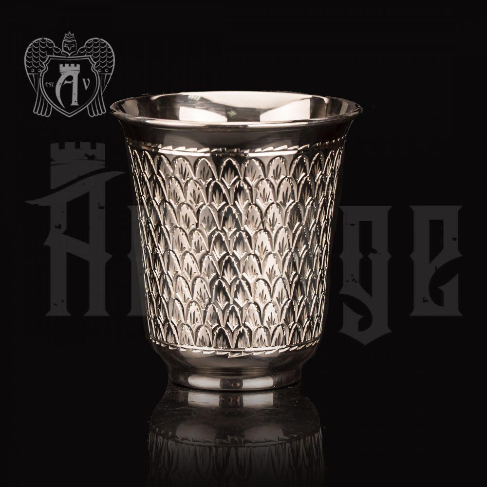 Серебряный стакан «Елочка» без черни