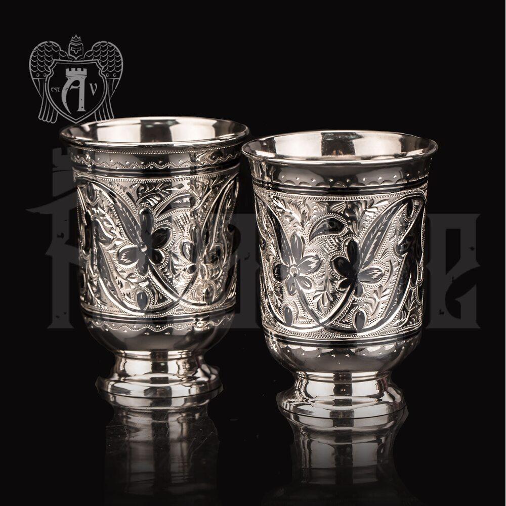 Серебряные стаканы «Вереск» 2 шт