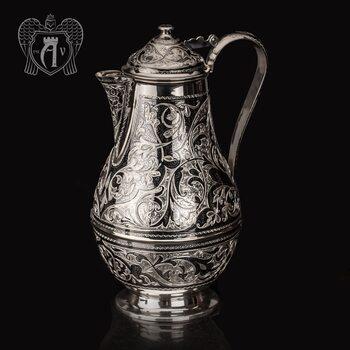 Кувшин из серебра  «Абердин» с крышкой на петле