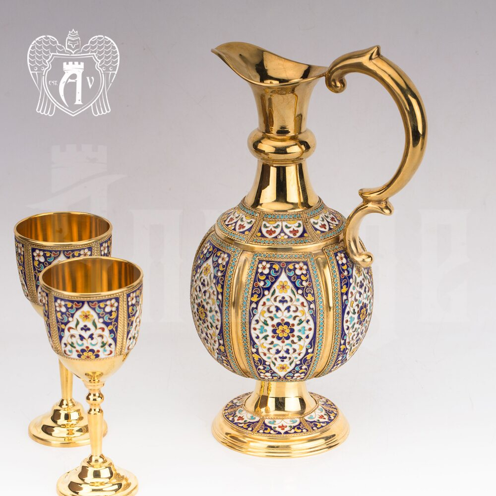 Кувшин из серебра для вина и воды «Легенда»