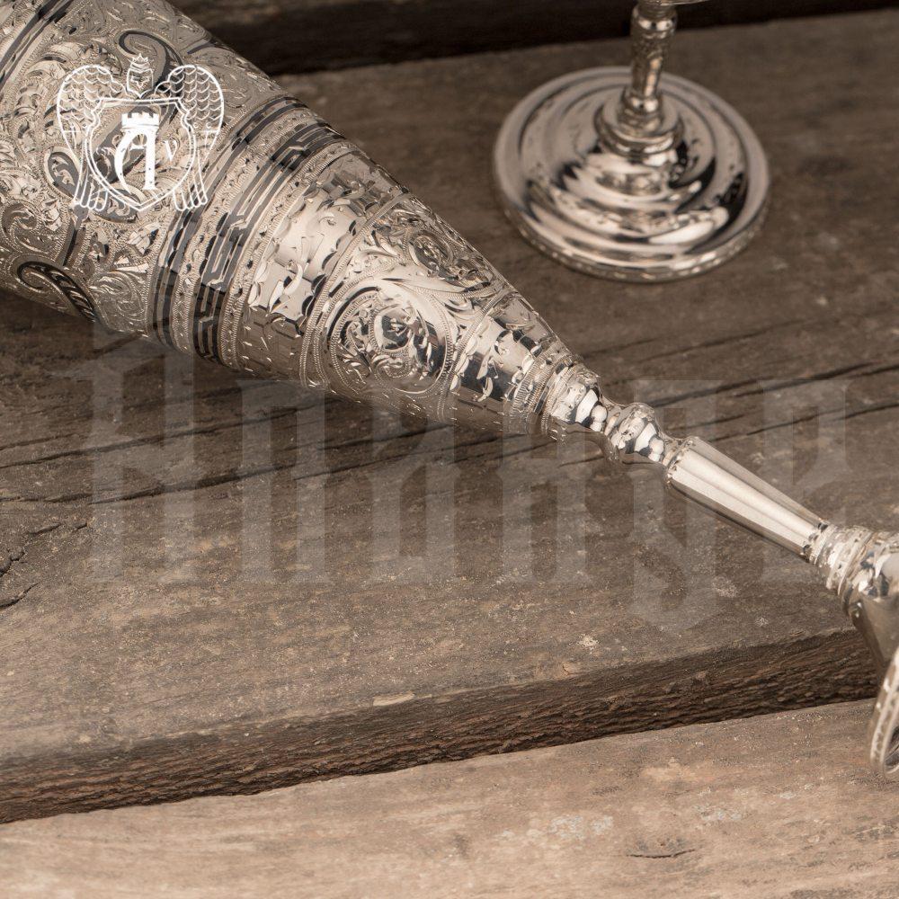 Бокал из серебра «Иней»