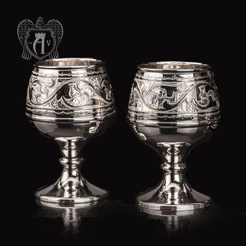 Бокалы из серебра «Исидора» 2 шт
