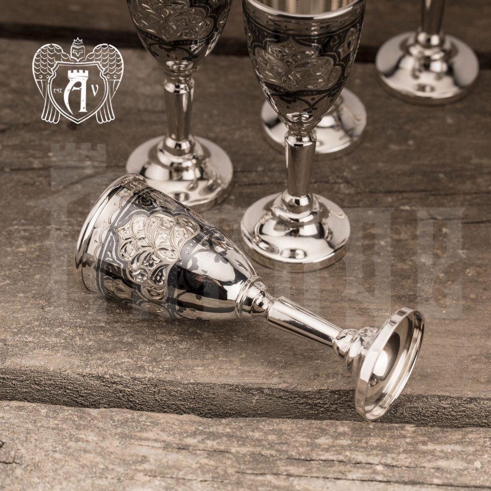 Набор рюмок из серебра  «Бриллиант»