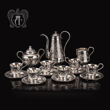 Серебряный сервиз кофейный  «Роксолана»
