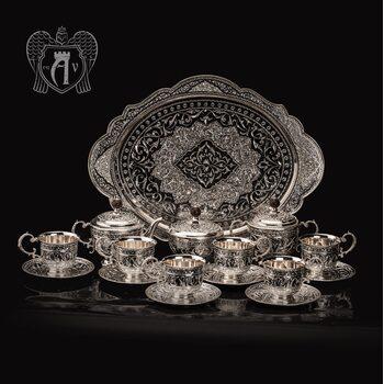 Сервиз серебряный чайный «Гренада»