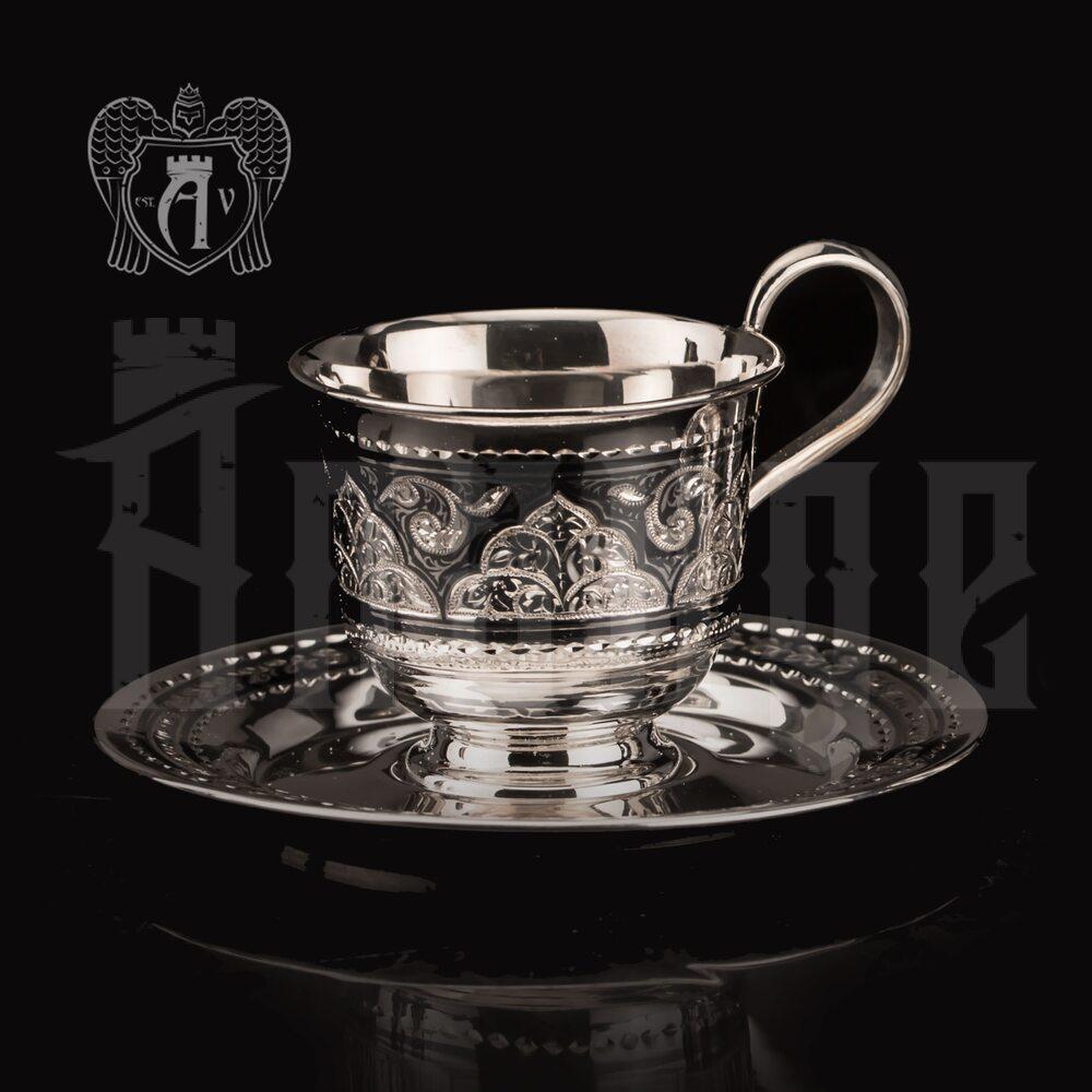 Серебряная кофейная чашка «Роксолана»