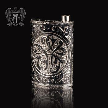 Серебряная фляжка  «Вязь»