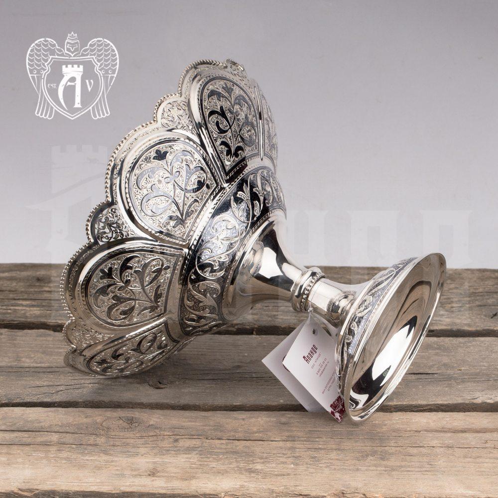 Серебряная ваза для фруктов «Маргарита»