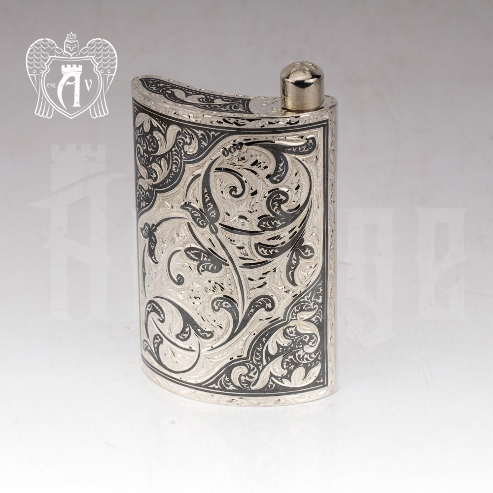 Серебряная фляжка «Гун»