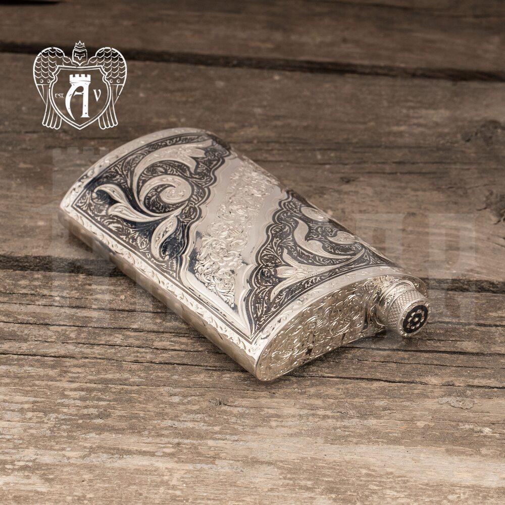 Фляжка из серебра  «Веточка»