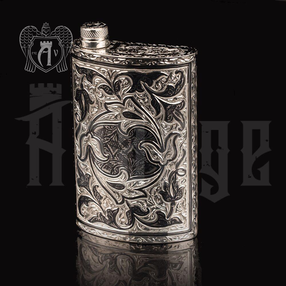 Фляжка из серебра  «Пламя»