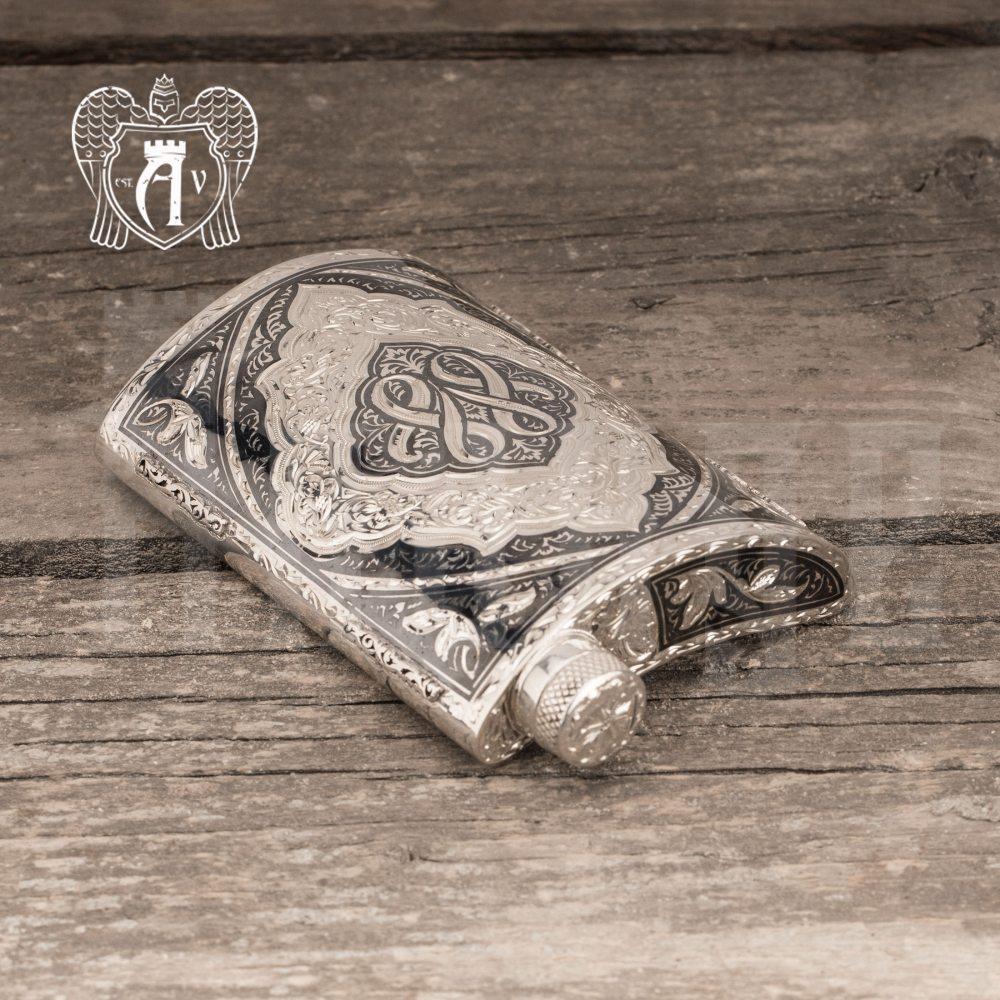 Серебряная фляжка  «Тунис»