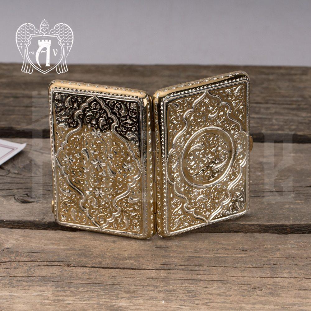 Портсигар из серебра «Gold» с золочением Апанде, 53000573