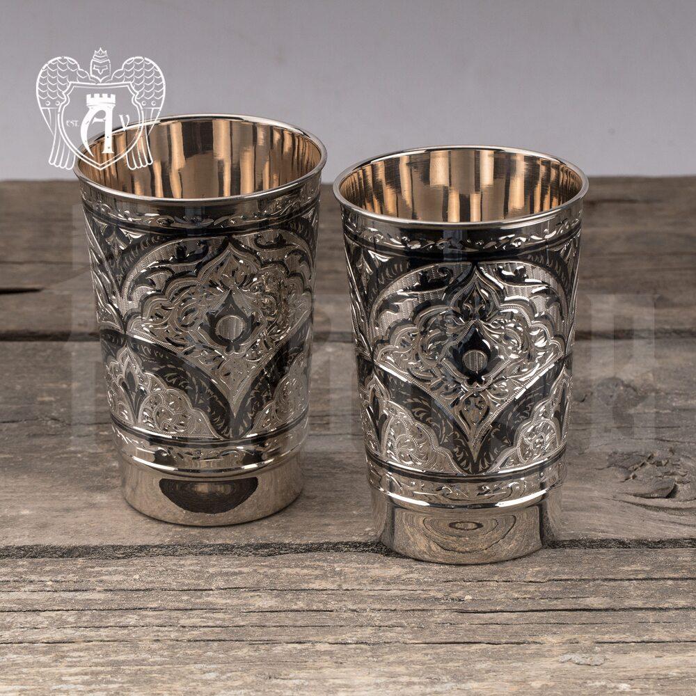 Набор больших стаканов из серебра  «Миллиан» Апанде, 71000442