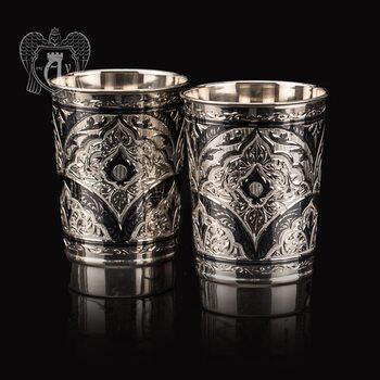 Набор больших стаканов из серебра  «Миллиан»