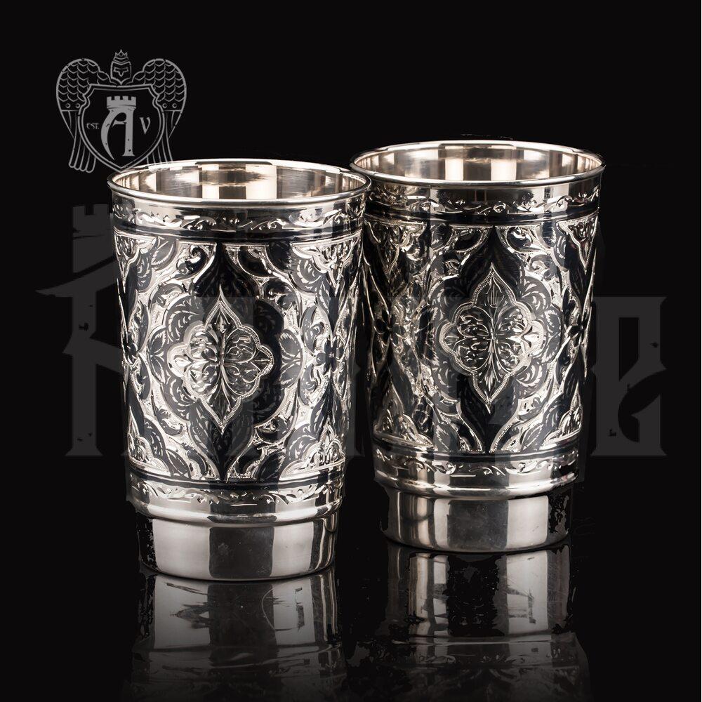 Набор больших стаканов из серебра  «Раджа» Апанде, 71000497