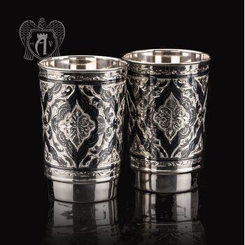 Набор больших стаканов из серебра  «Раджа»