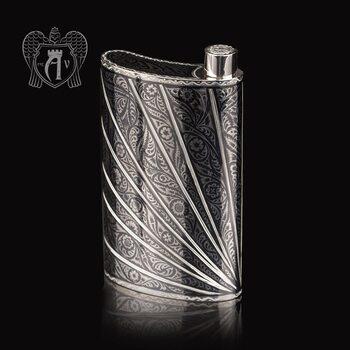 Фляжка из серебра  «Мантис»