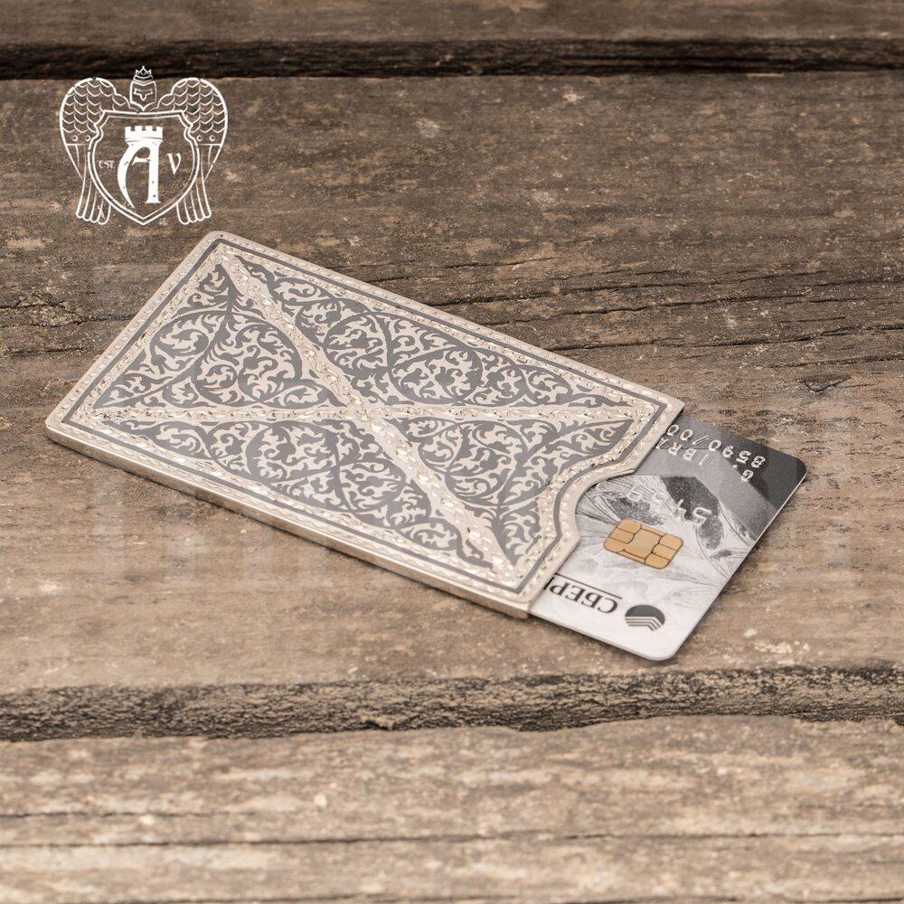 Чехол для банковских карт серебряный «Балин» Апанде, 91003220