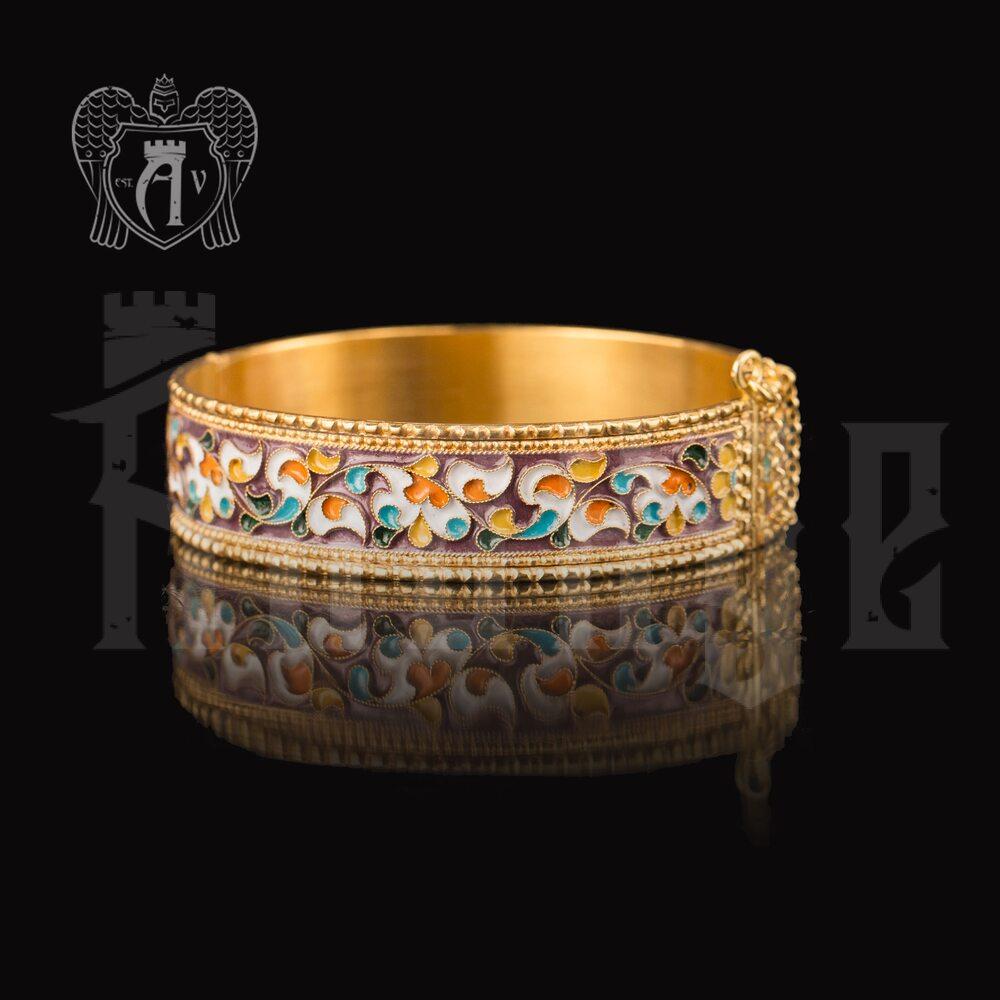 Браслет из серебра «Радуга» с позолотой и эмалью купить в магазине Апанде, 23000423162