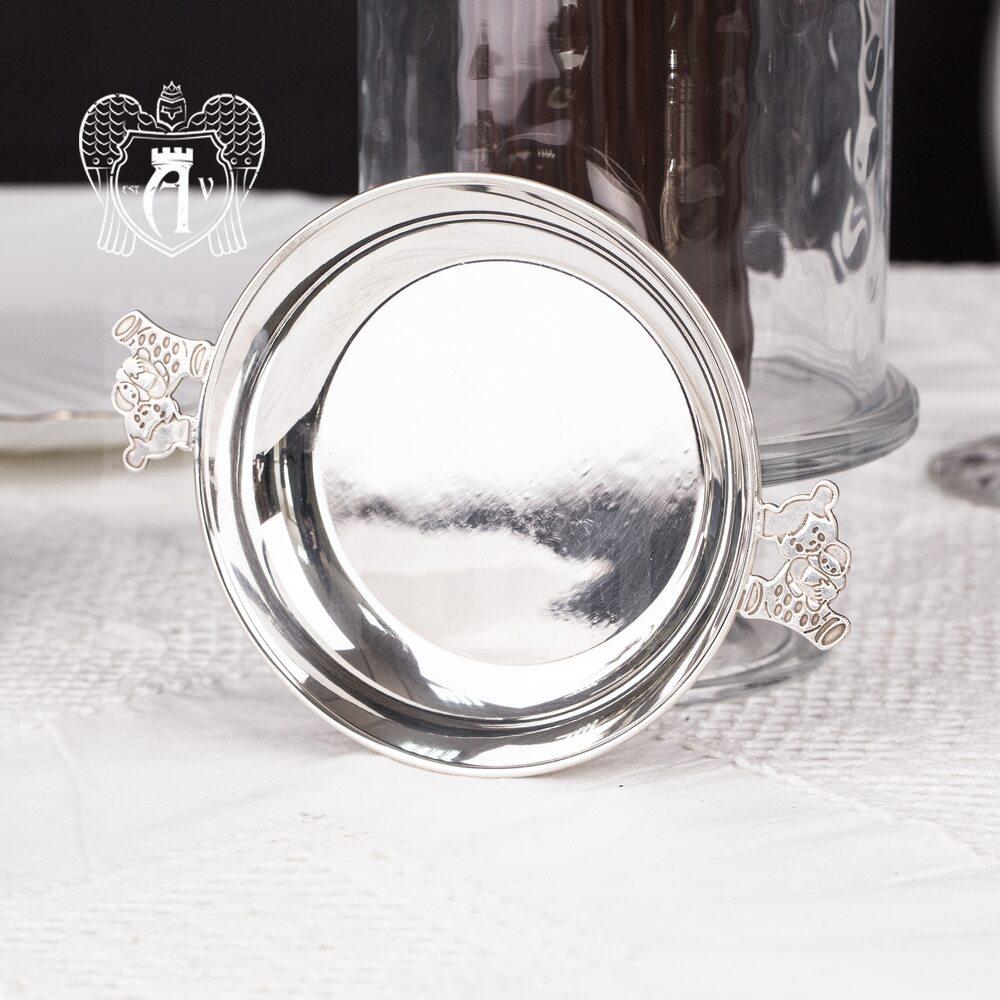 Серебряное детское блюдце «Мишка» Апанде, 7011001