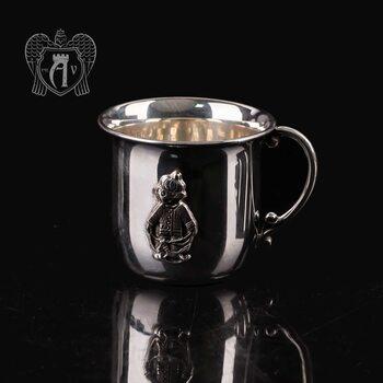 Детская  кружка из серебра для напитков  «Мальчик»