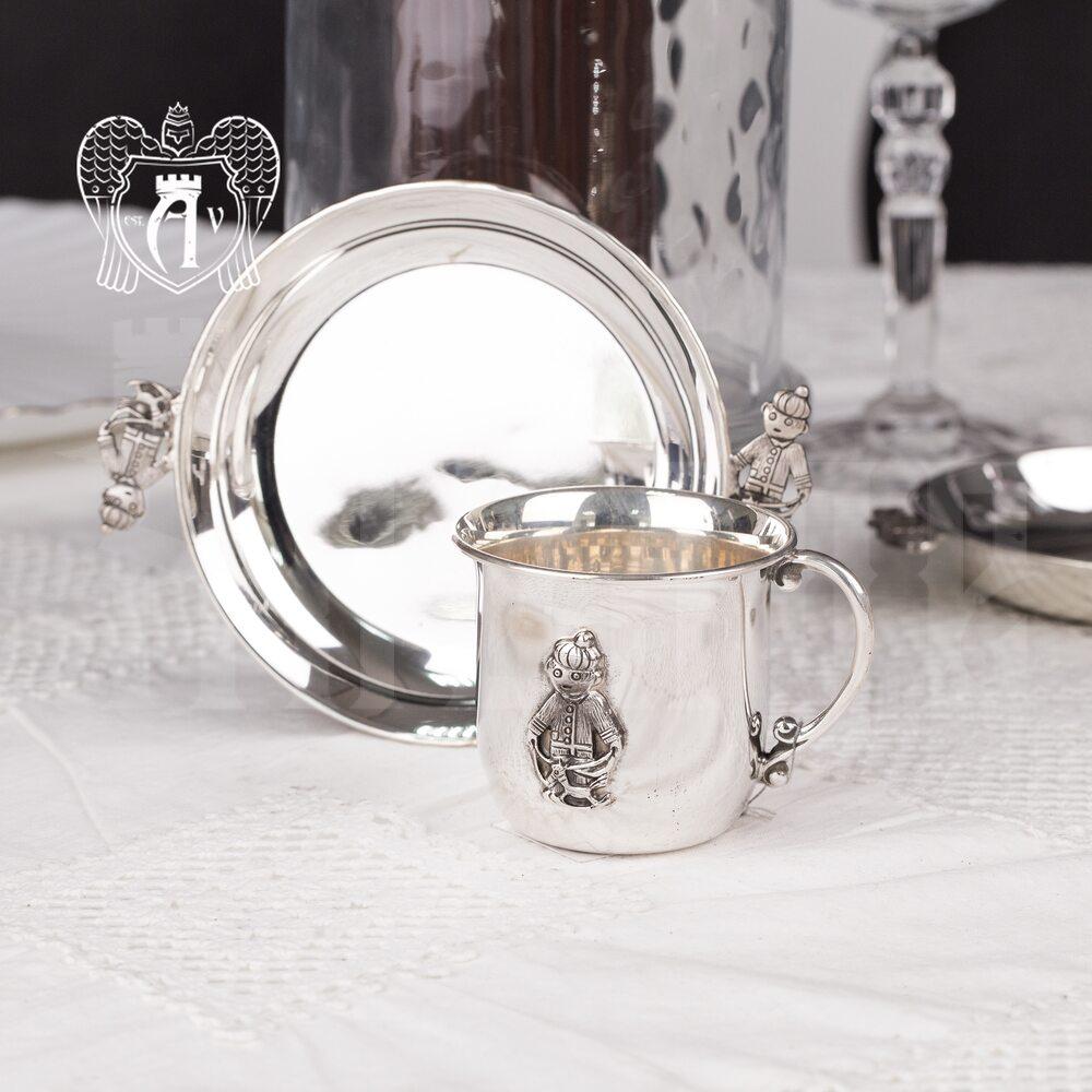 Детская  кружка из серебра для напитков  «Малыш» Апанде, 32009161
