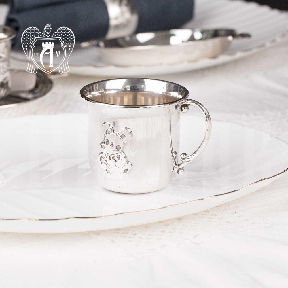 Детская  кружка из серебра для напитков  «Мышонок» Апанде, 32009162