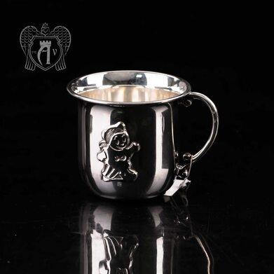 Детская  кружка из серебра для напитков  «Мишка»