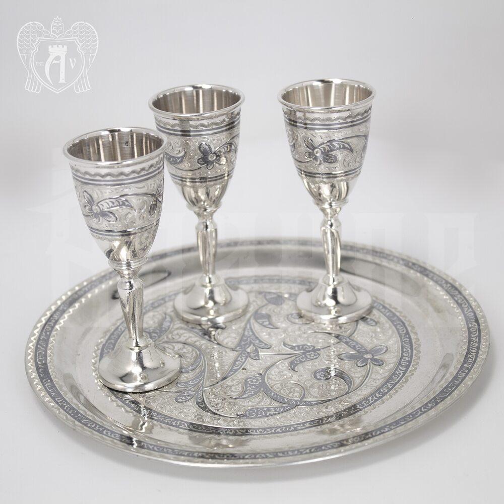 Серебряный сервиз для спиртных напитков «Столичный»  Апанде, 11100539