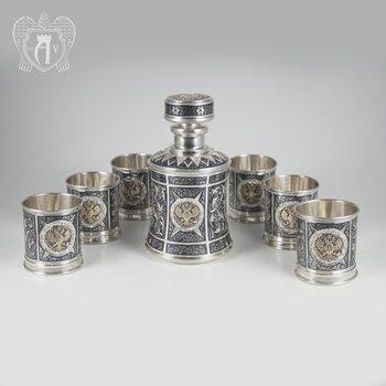 Серебряный сервиз для виски «Россия»