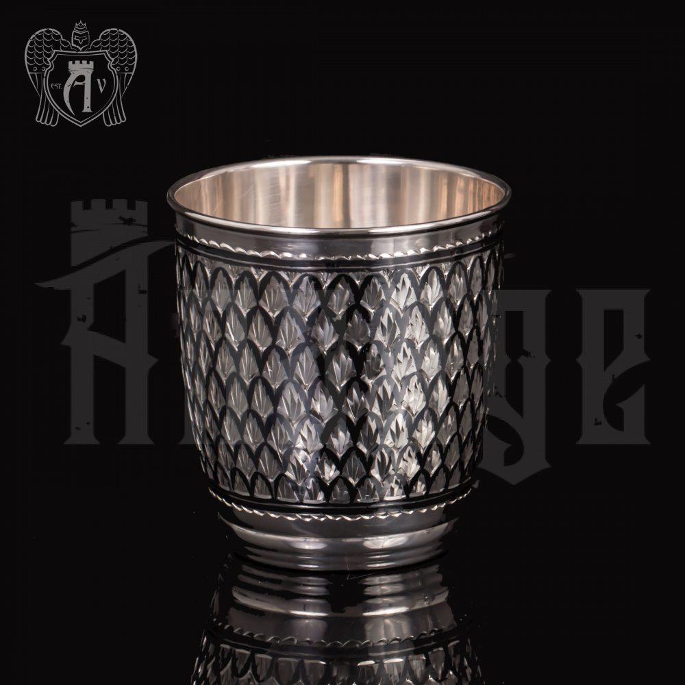 Серебряный стакан «Домики» Апанде, 71000536