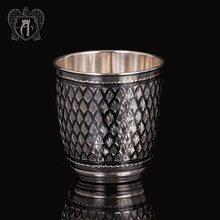 Серебряный стакан «Домики»