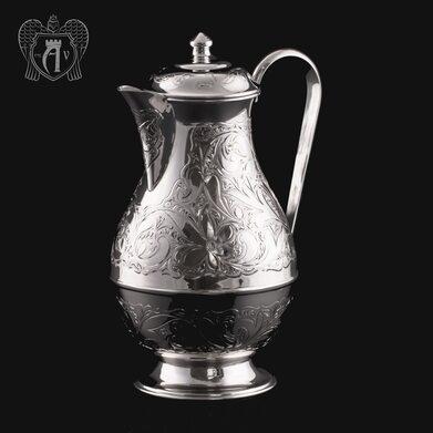 Кувшин из серебра 925 пробы без черни «Райский родник»