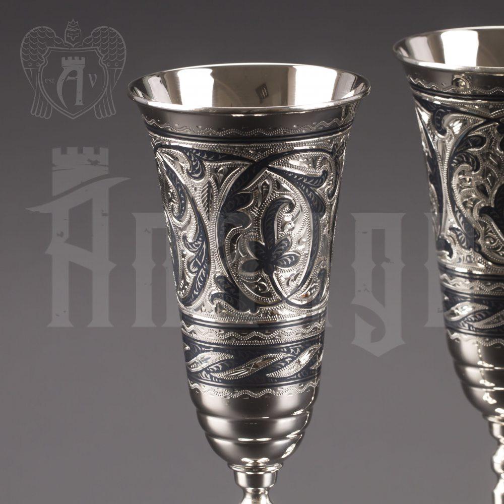 Серебряные фужеры «Вальс» Апанде, 3800403