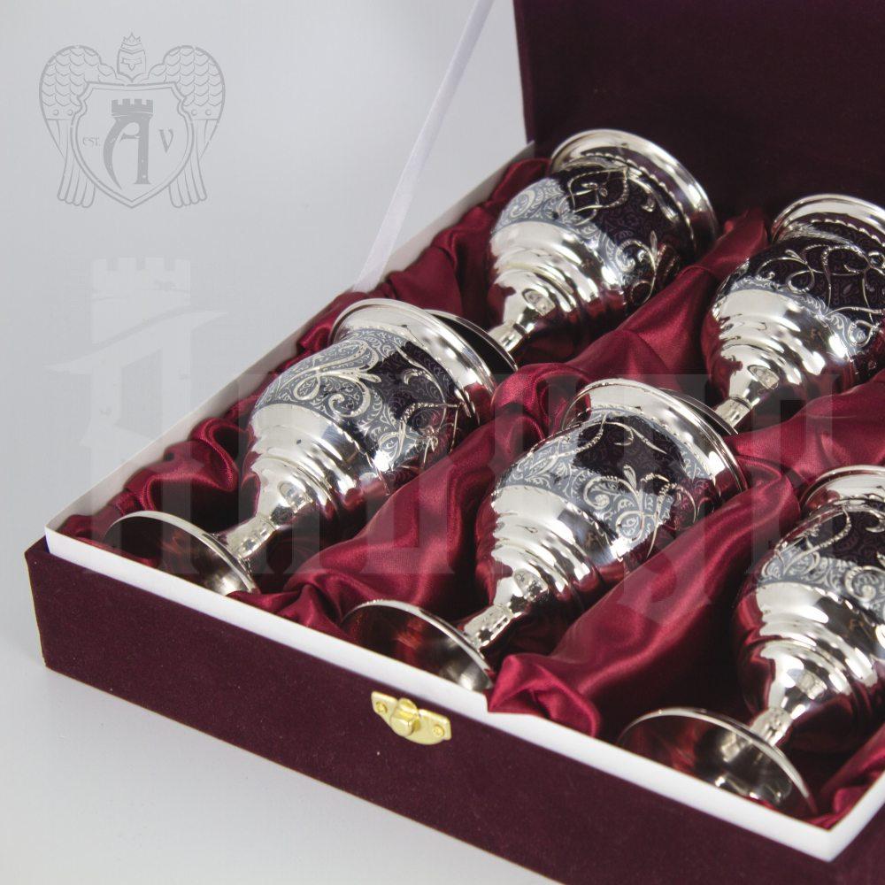 Серебряные бокалы «Камелот» набор 6 шт Апанде, 730002340