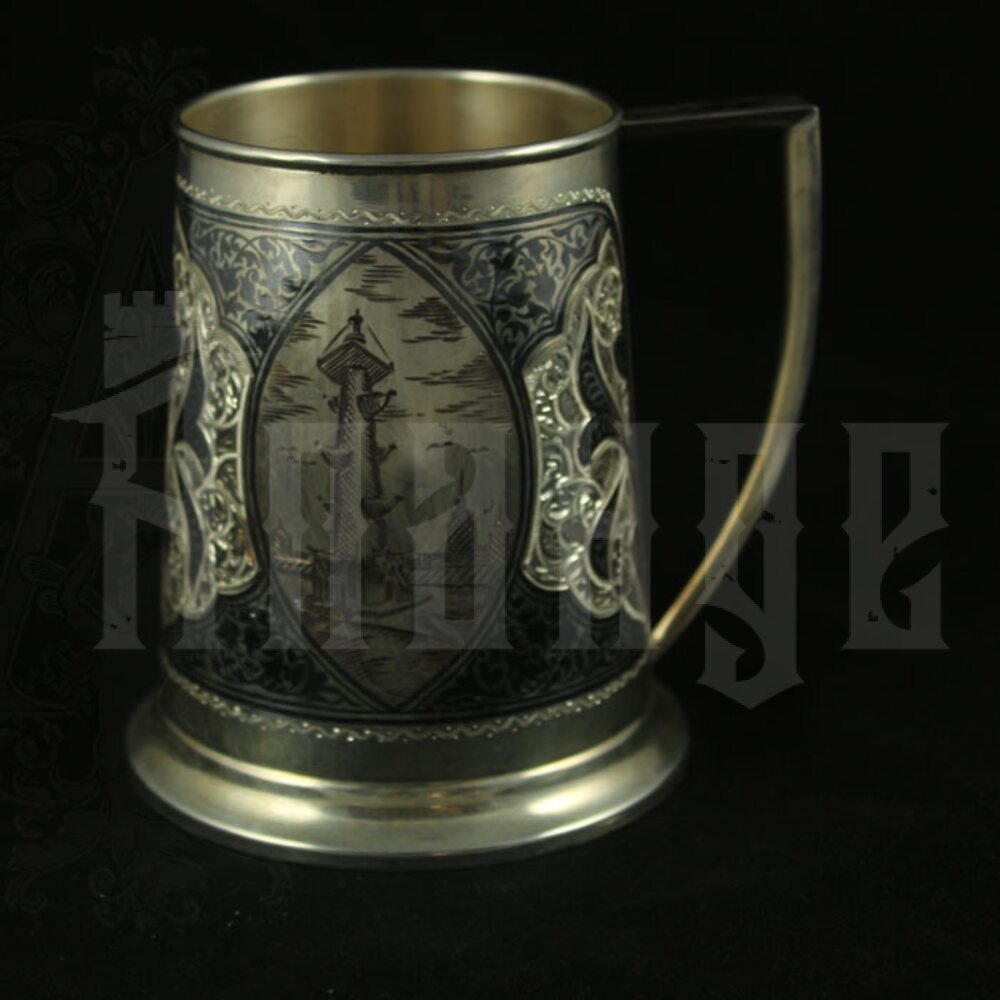 Серебряная пивная кружка «Петербург» 1000 мл Апанде, 32009125