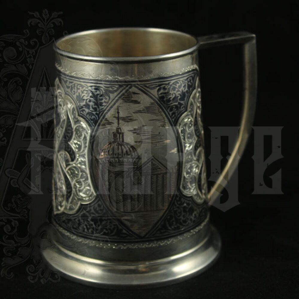 Серебряная пивная кружка «Петербург» 1000 мл Апанде, 32009128