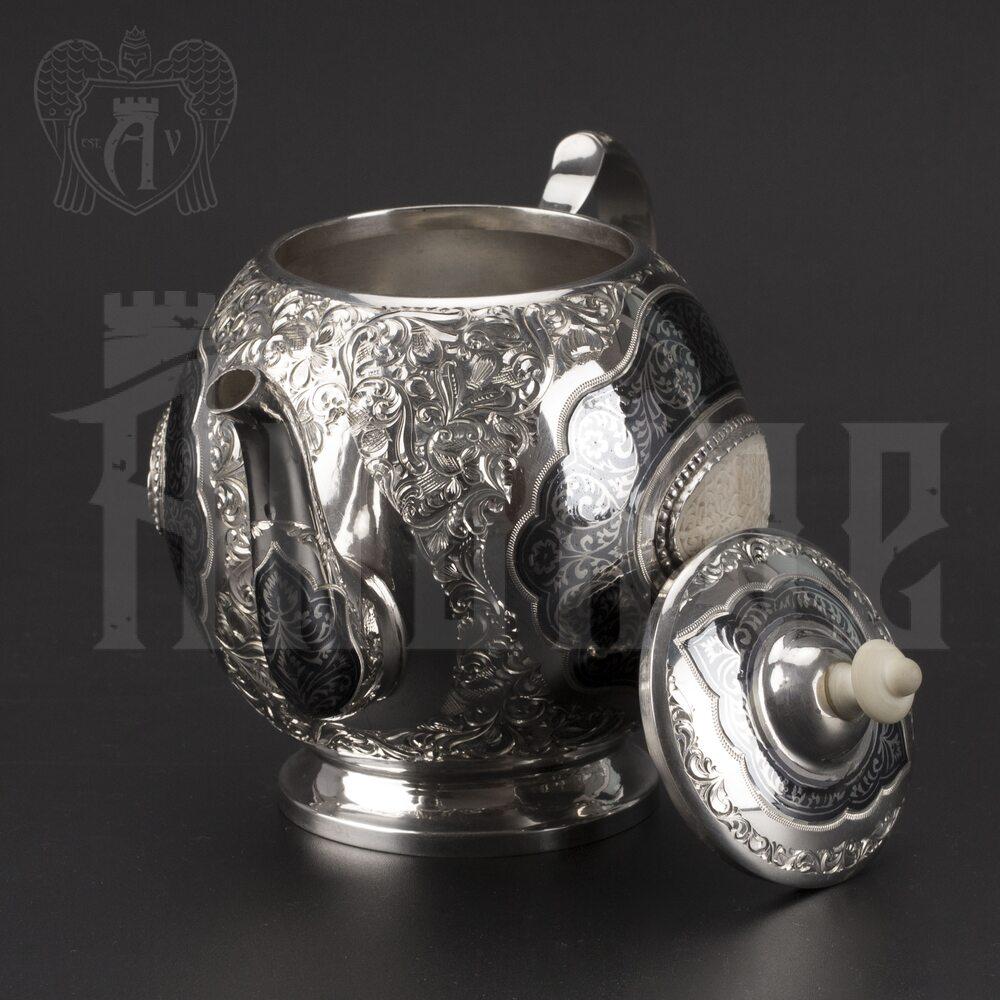 Серебряный чайник «Эксклюзив» Апанде, 2500013