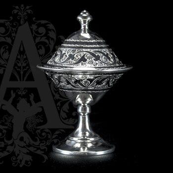 Серебряная икорница\креманка  «Фаворит»