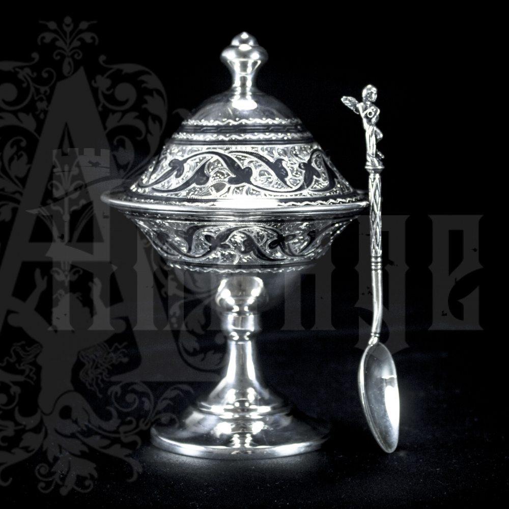 Серебряная икорница\креманка  «Фаворит» Апанде, 270004