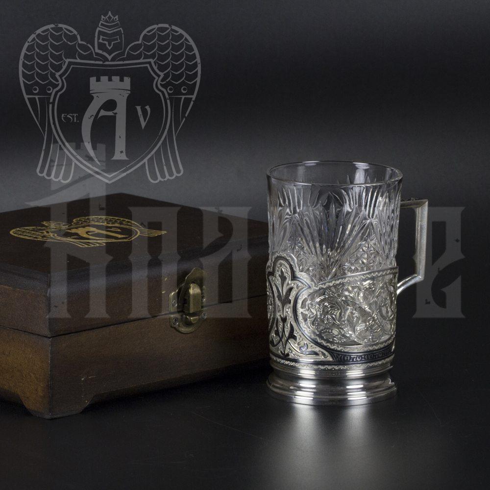 Серебряный подстаканник «Мархарай» Апанде, 880004