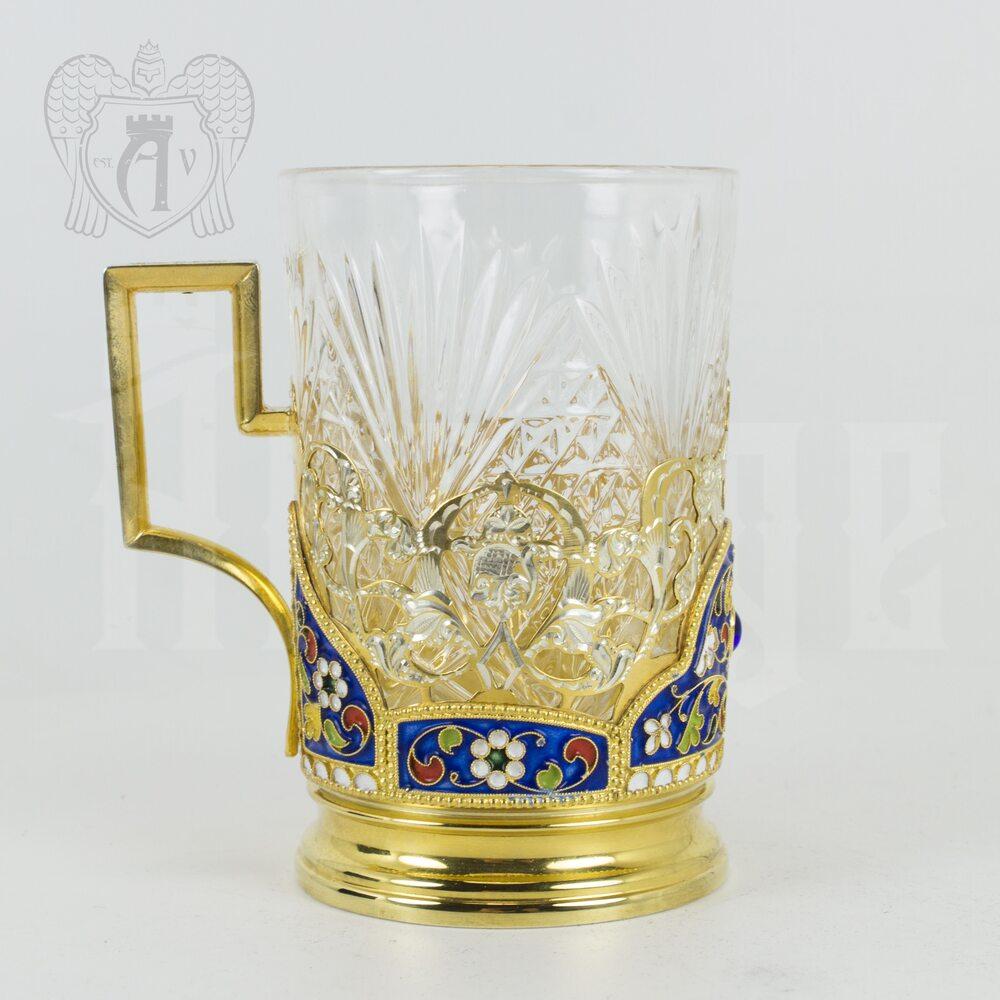 Подстаканник с эмалью «Королевский» Апанде, 880008