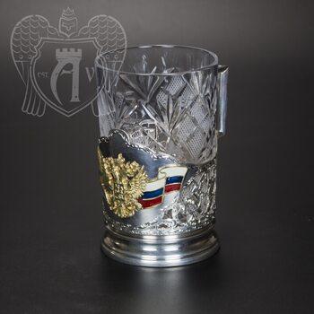 Серебряный подстаканник «ВМФ»