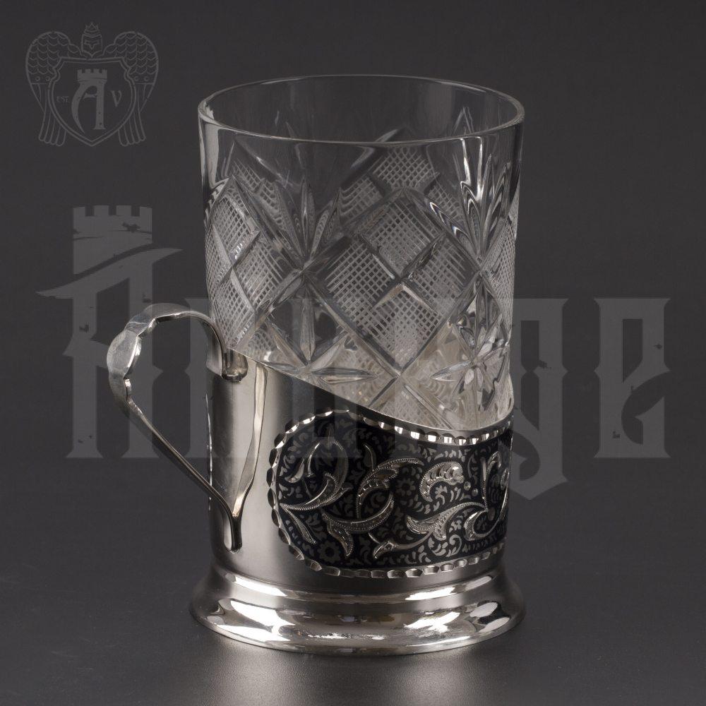 Подстаканник серебряный «Мидас» Апанде, 880030