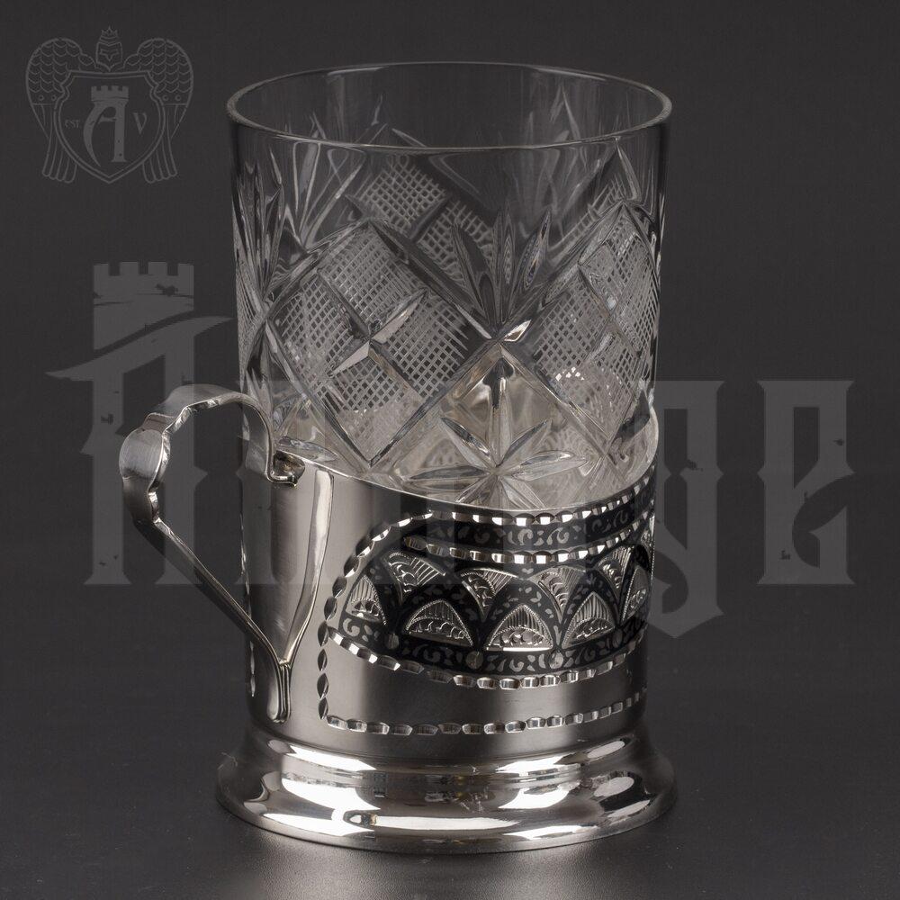 Подстаканник серебряный «Купеческий» Апанде, 880033