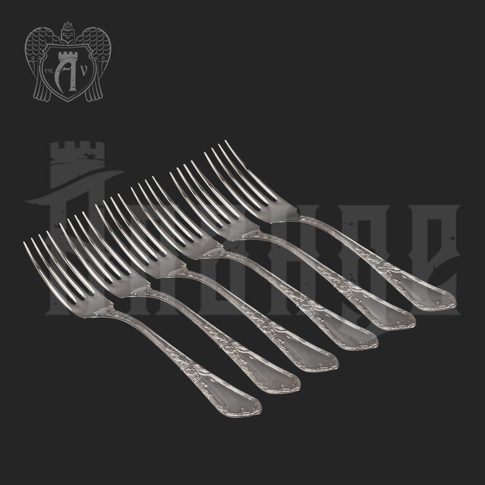 Столовые вилки из серебра 925 пробы «Герцогиня» 6 шт Апанде, 290002190