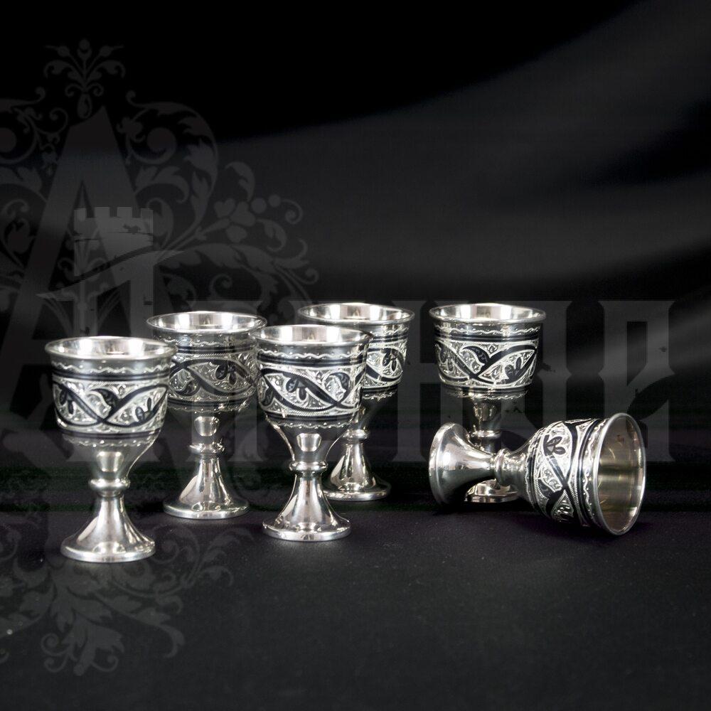 Серебряная рюмка «Рим» Апанде, 75000177